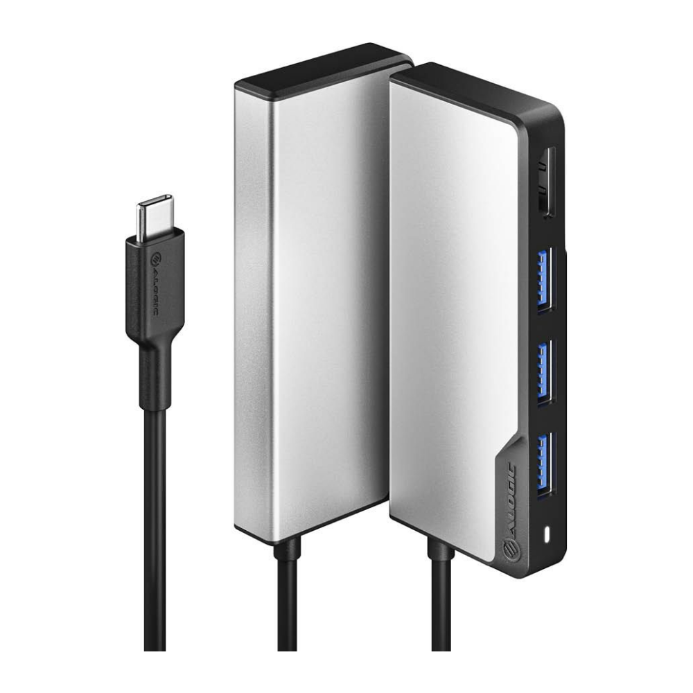 A large main feature product image of ALOGIC USB-C Fusion CORE 5-in-1 Hub