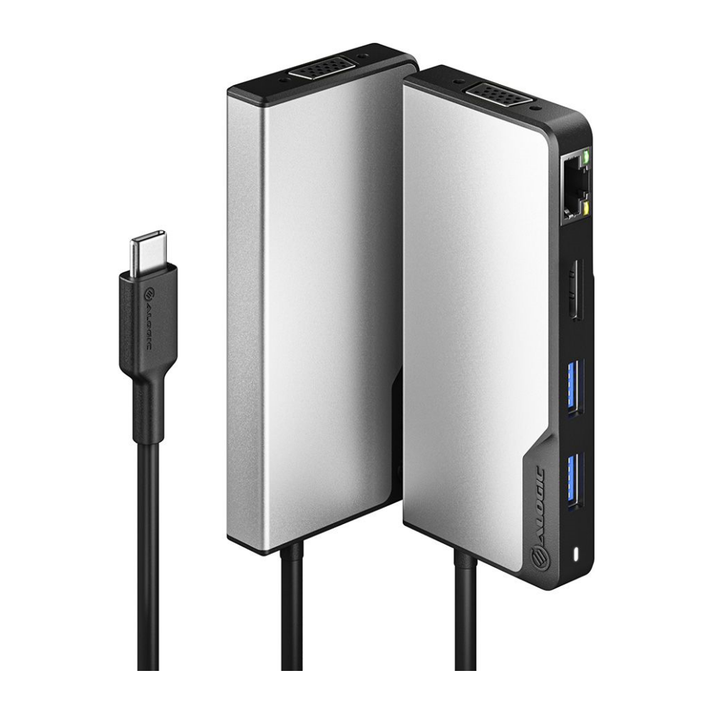 A large main feature product image of ALOGIC USB-C Fusion MAX 6-in-1 Hub
