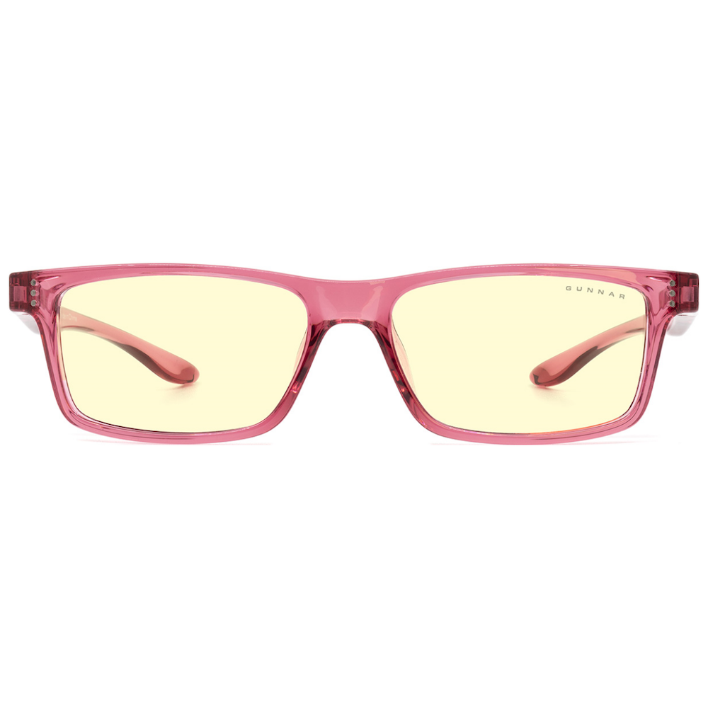 A large main feature product image of Gunnar Cruz Kids Amber Pink Indoor Digital Eyewear Large