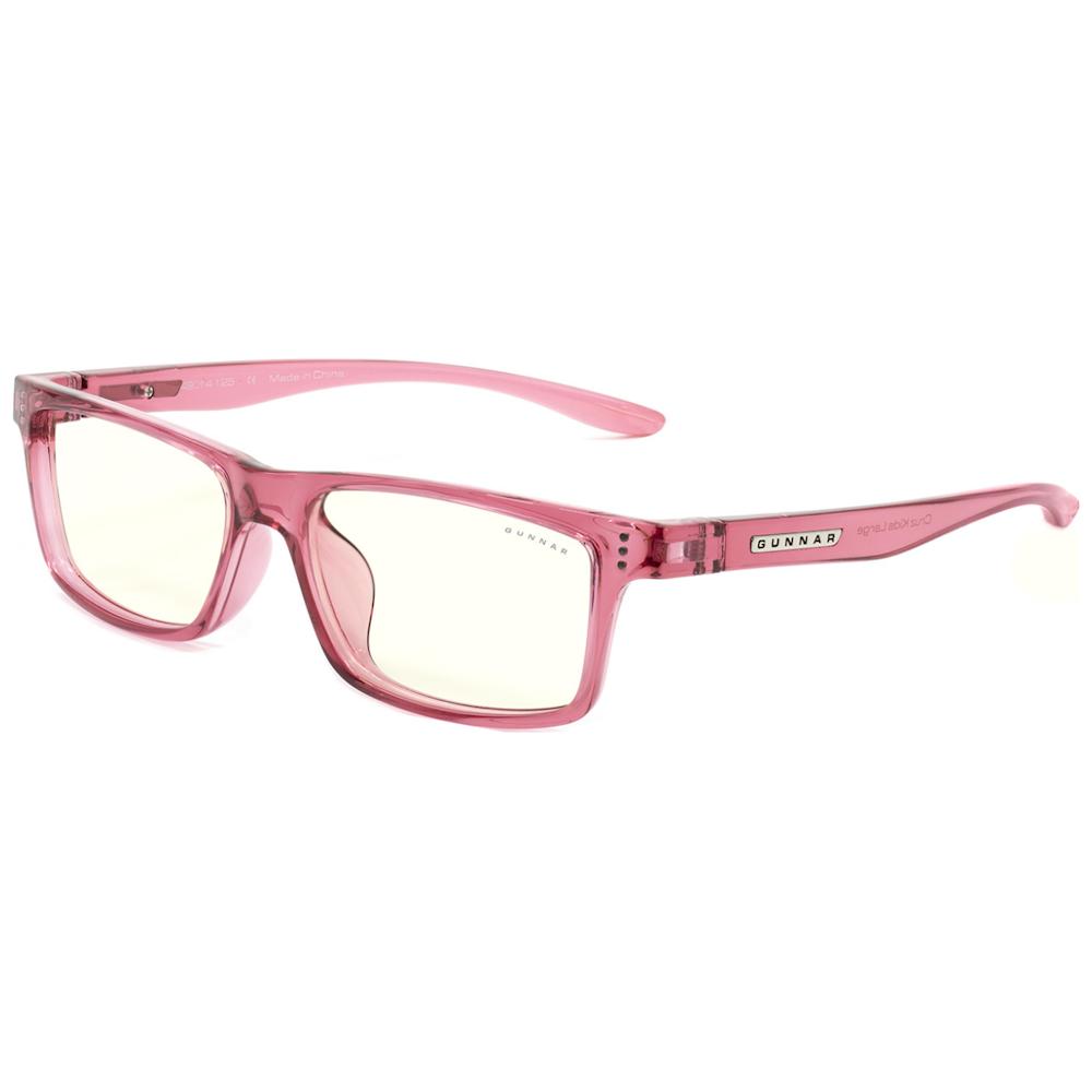 A large main feature product image of Gunnar Cruz Kids Clear Pink Indoor Digital Eyewear Large