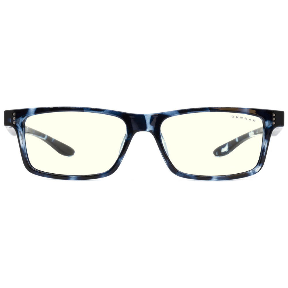 A large main feature product image of Gunnar Cruz Kids Clear Navy Tortoise Indoor Digital Eyewear Large