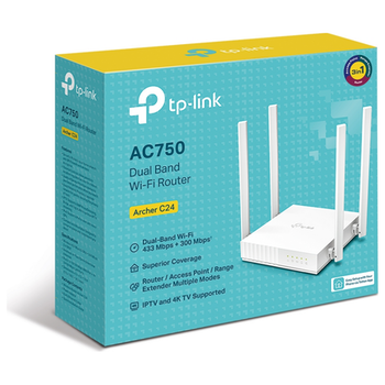 Product image of TP-LINK Archer C24 Wireless-AC750 WiFi 5 Dual-Band Wireless Router - Click for product page of TP-LINK Archer C24 Wireless-AC750 WiFi 5 Dual-Band Wireless Router