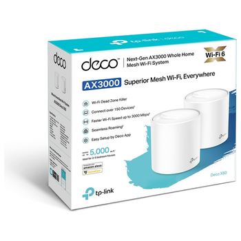 Product image of TP-LINK Deco X60 Wireless-AX3000 WiFi 6 Mesh System - 2 Pack - Click for product page of TP-LINK Deco X60 Wireless-AX3000 WiFi 6 Mesh System - 2 Pack