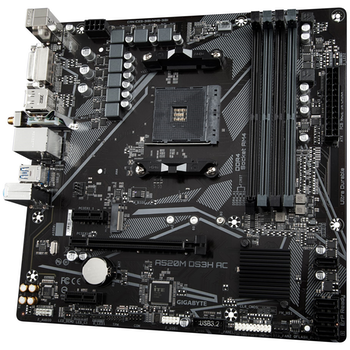 Product image of Gigabyte A520M DS3H AC AM4 mATX Desktop Motherboard - Click for product page of Gigabyte A520M DS3H AC AM4 mATX Desktop Motherboard