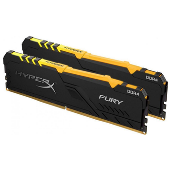 Product image of Kingston 16GB Kit (2x8GB) DDR4 HyperX Fury RGB C16 3600MHz - Click for product page of Kingston 16GB Kit (2x8GB) DDR4 HyperX Fury RGB C16 3600MHz