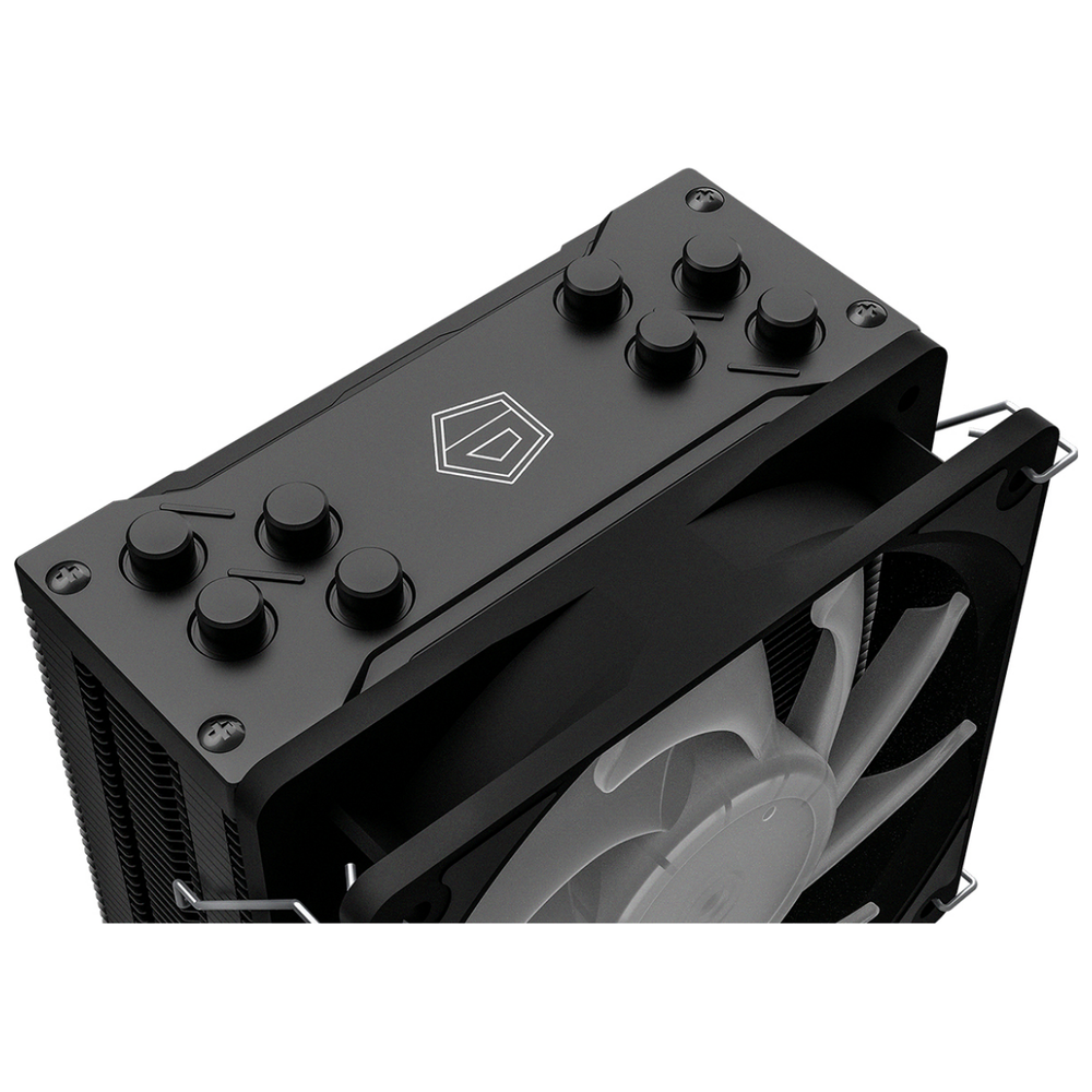 A large main feature product image of ID-COOLING Sweden Series SE-224-XT RGB CPU Cooler