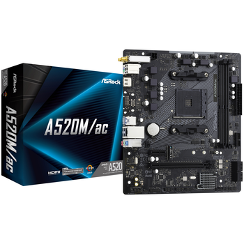 Product image of ASRock A520M AC AM4 mATX Desktop Motherboard - Click for product page of ASRock A520M AC AM4 mATX Desktop Motherboard