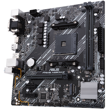 Product image of ASUS PRIME A520M-E AM4 mATX Desktop Motherboard  - Click for product page of ASUS PRIME A520M-E AM4 mATX Desktop Motherboard
