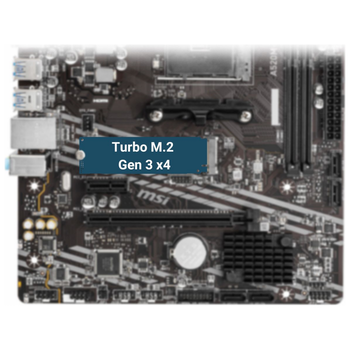 Product image of MSI A520M-A Pro AM4 mATX Desktop Motherboard - Click for product page of MSI A520M-A Pro AM4 mATX Desktop Motherboard