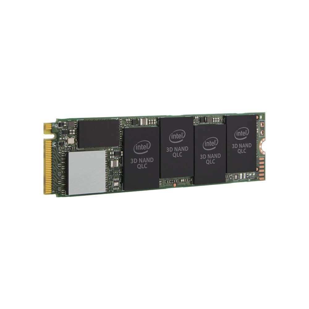 A large main feature product image of Intel 665p Series 1TB NVME M.2 SSD