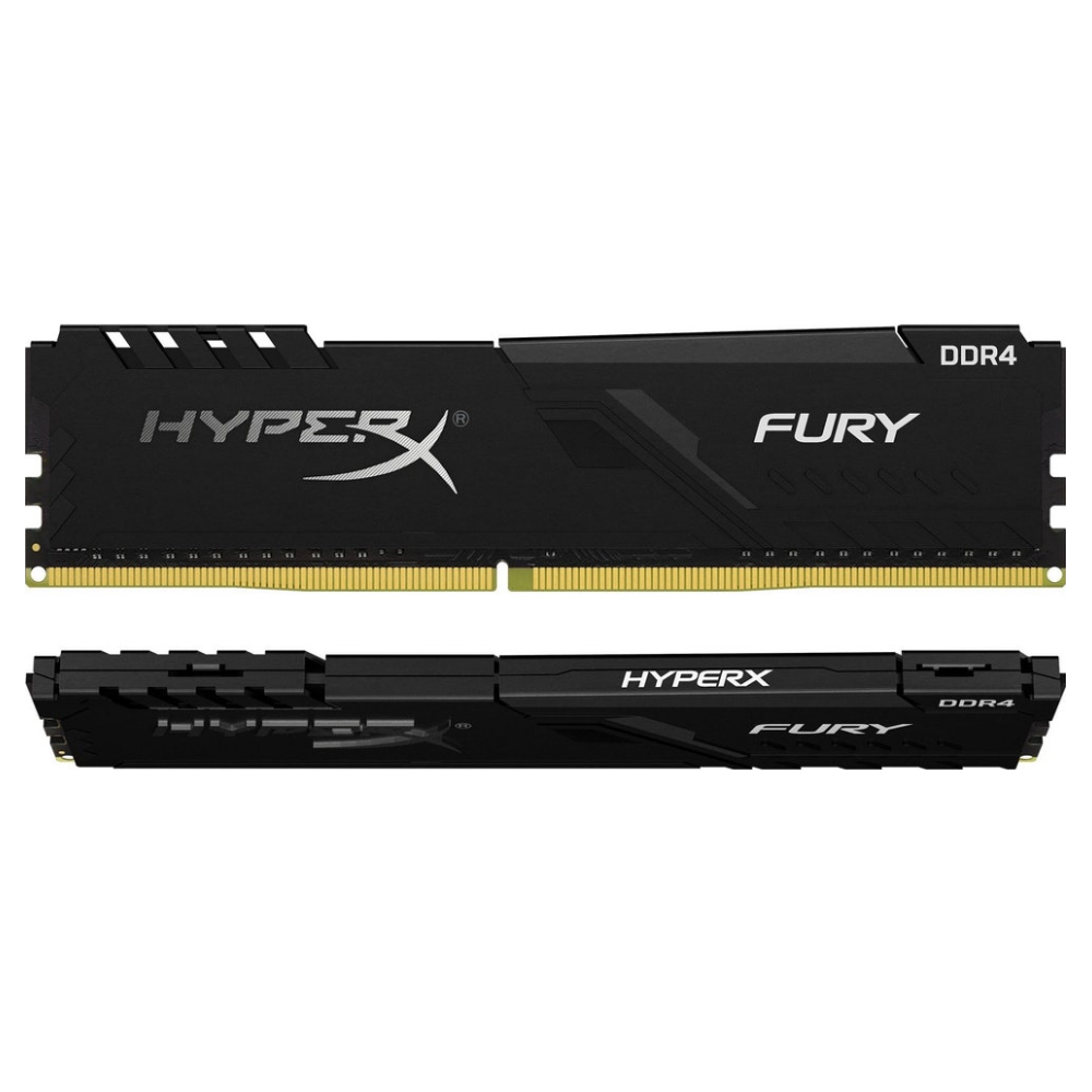 A large main feature product image of Kingston 16GB Kit (2x8GB) DDR4 HyperX Fury Black C17 3600MHz