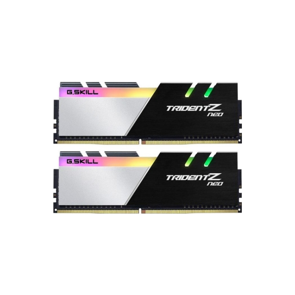 A large main feature product image of G.Skill 64GB Kit (2x32GB) DDR4 Trident Z RGB Neo C18 3600Mhz