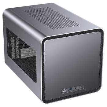 Product image of Jonsbo V8 Grey mITX Case w/Side Panel Window - Click for product page of Jonsbo V8 Grey mITX Case w/Side Panel Window