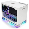 A product image of InWin A1 Plus White Mini-ITX Case w/ Tempered Glass Side Panel