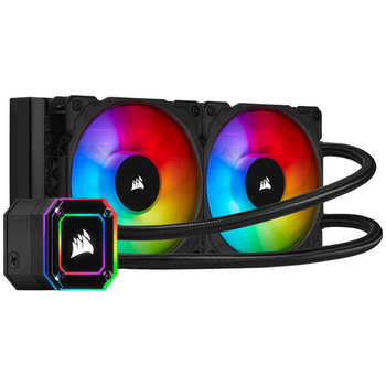 Product image of Corsair iCUE H100i Elite Capellix 240mm AIO Liquid CPU Cooler - Click for product page of Corsair iCUE H100i Elite Capellix 240mm AIO Liquid CPU Cooler