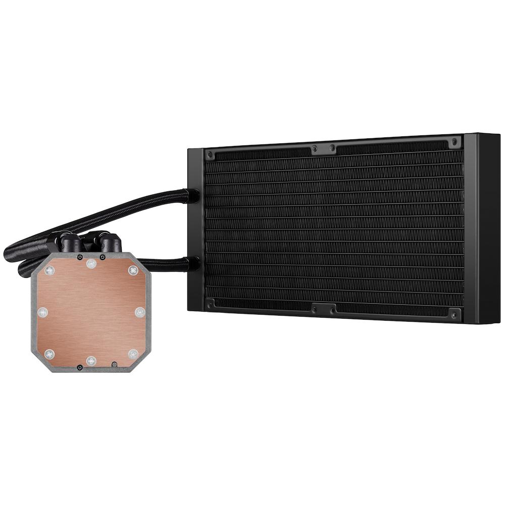 A large main feature product image of Corsair iCUE H115i Elite Capellix 280mm AIO Liquid CPU Cooler