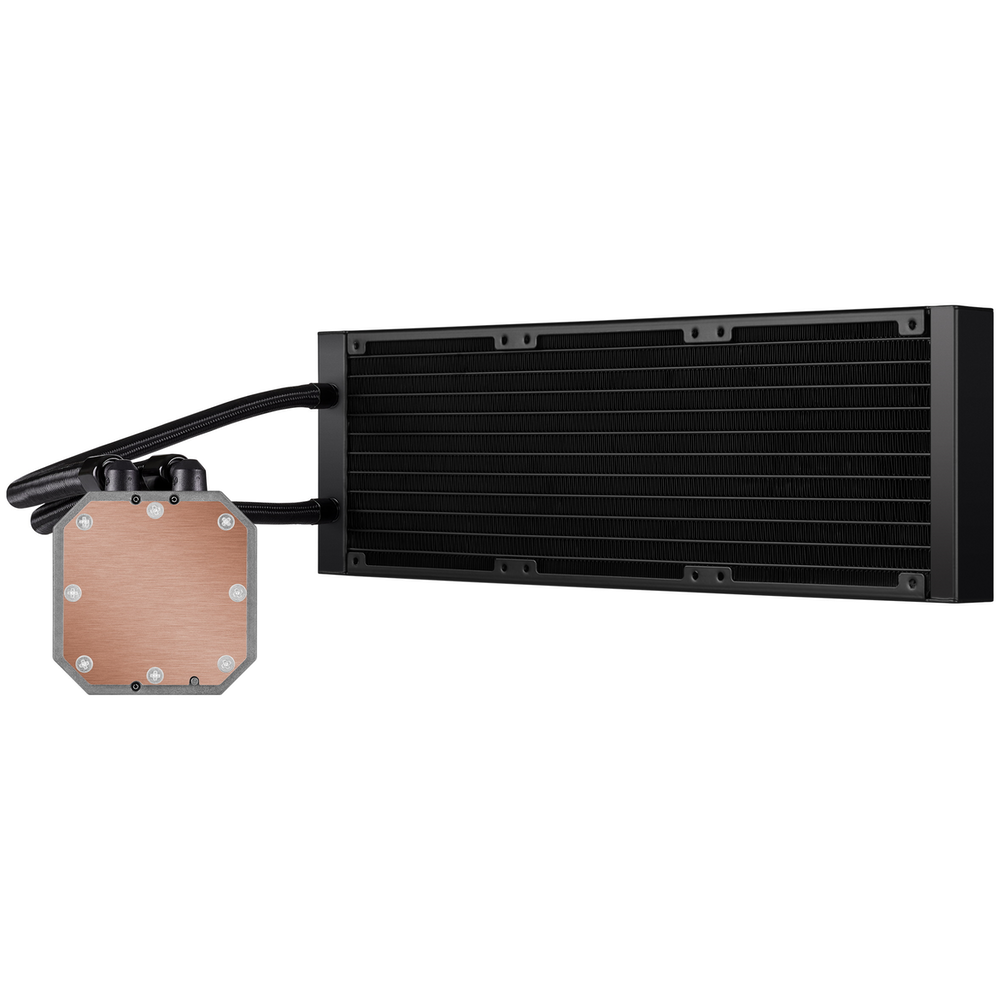 A large main feature product image of Corsair iCUE H150i Elite Capellix 360mm AIO Liquid CPU Cooler