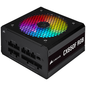 Product image of Corsair CX650F RGB 650W 80PLUS Bronze Modular RGB Power Supply - Click for product page of Corsair CX650F RGB 650W 80PLUS Bronze Modular RGB Power Supply
