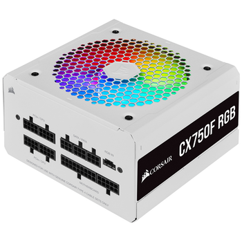 Product image of Corsair CX750F RGB White 750W 80PLUS Bronze Modular RGB Power Supply - Click for product page of Corsair CX750F RGB White 750W 80PLUS Bronze Modular RGB Power Supply