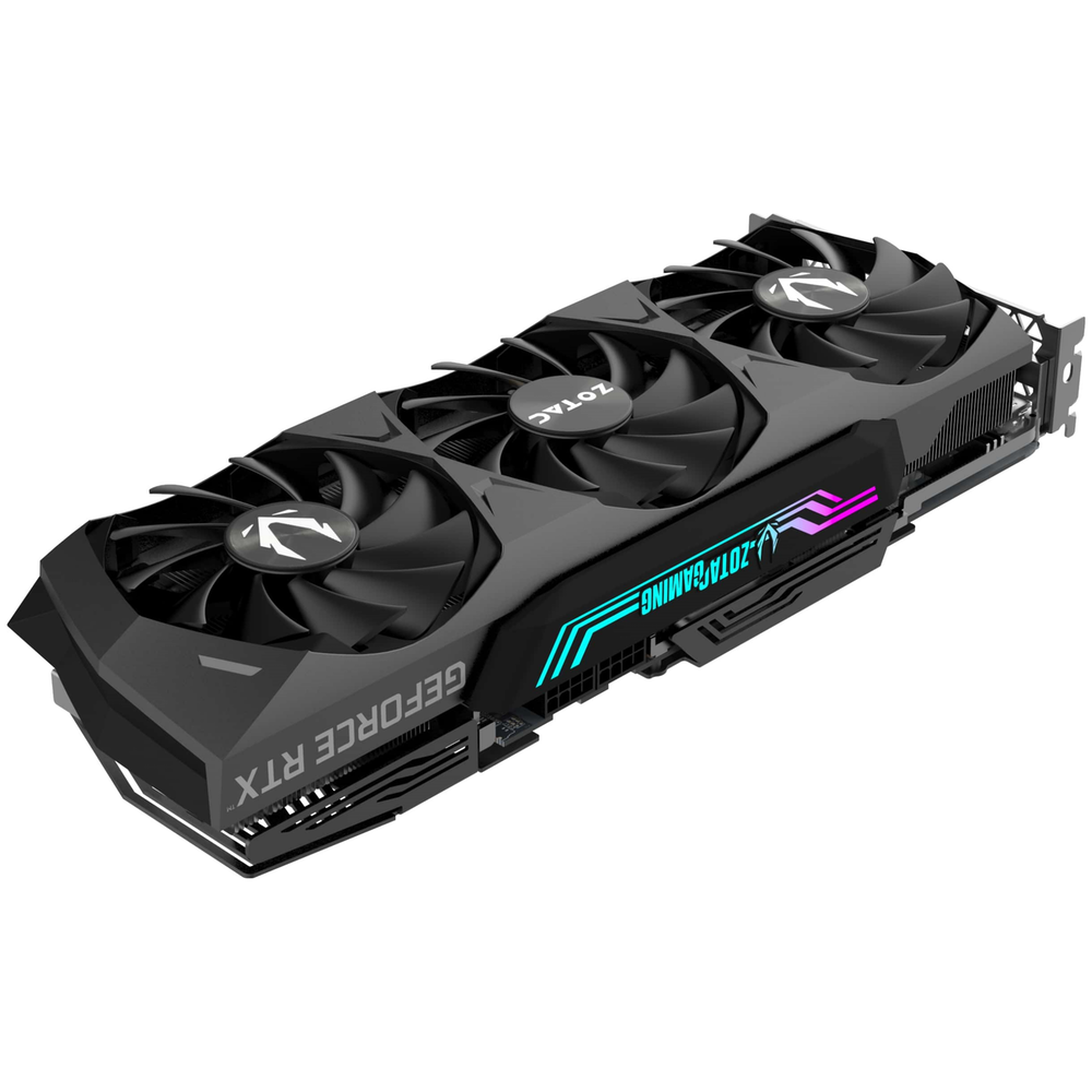 A large main feature product image of ZOTAC GAMING GeForce RTX 3080 Trinity 10GB GDDR6X