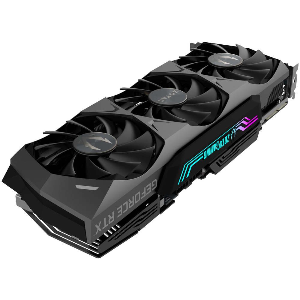 A large main feature product image of ZOTAC GAMING GeForce RTX 3090 Trinity 24GB GDDR6X