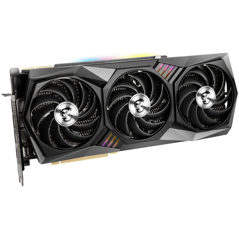 A large main feature product image of MSI GeForce RTX 3090 GAMING X Trio 24GB GDDR6X