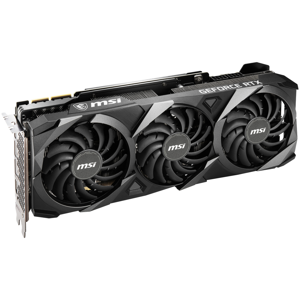 A large main feature product image of MSI GeForce RTX 3090 VENTUS 3X OC 24GB GDDR6X
