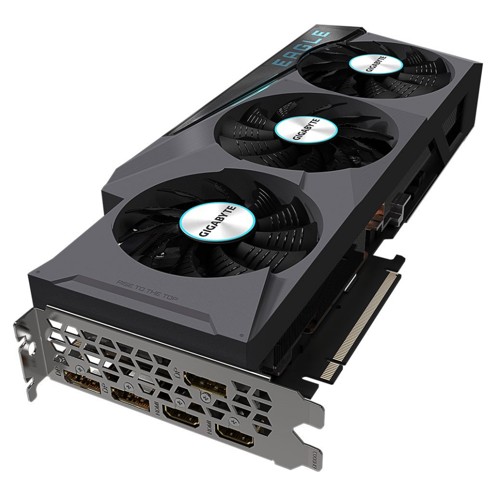 A large main feature product image of Gigabyte GeForce RTX 3080 Eagle OC 10GB GDDR6X