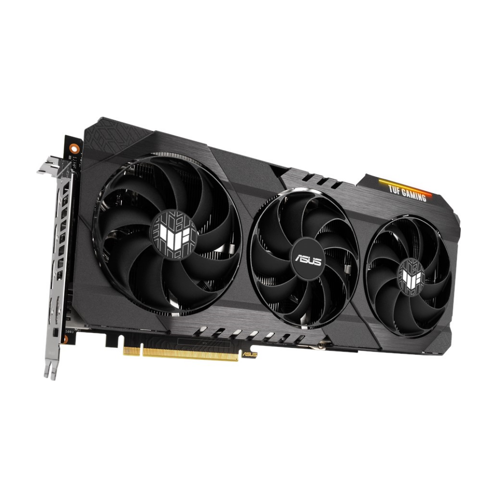 A large main feature product image of ASUS GeForce RTX 3080 TUF Gaming 10GB GDDR6X