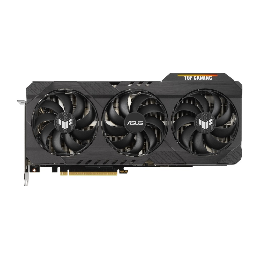 A large main feature product image of ASUS GeForce RTX 3090 TUF Gaming 24GB GDDR6X