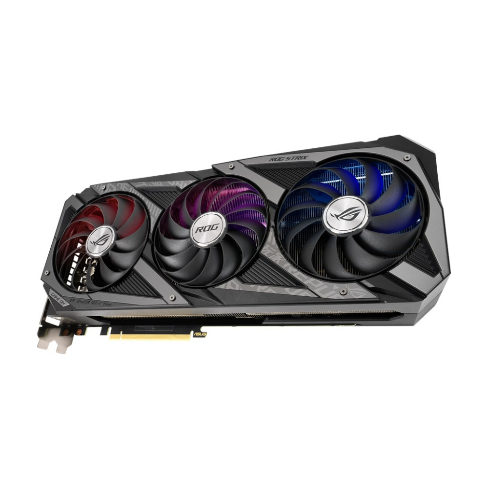A large main feature product image of ASUS GeForce RTX 3070 ROG Strix Gaming 8GB GDDR6