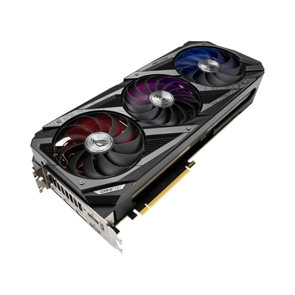 A large main feature product image of ASUS GeForce RTX 3080 ROG Strix Gaming 10GB GDDR6X