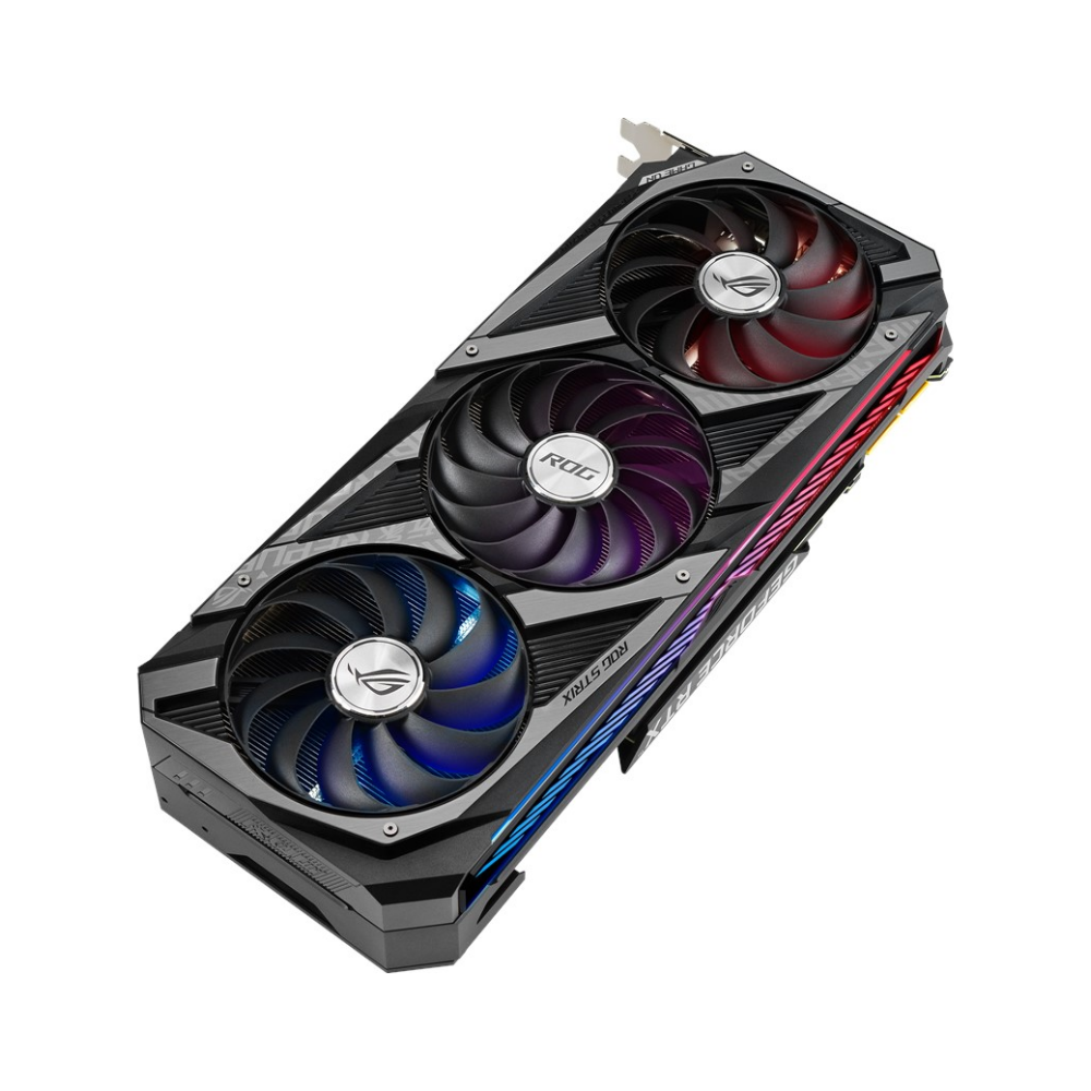 A large main feature product image of ASUS GeForce RTX 3090 ROG Strix Gaming 24GB GDDR6X