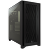 A product image of Corsair 4000D Airflow Black Case w/ Tempered Glass Side Panel