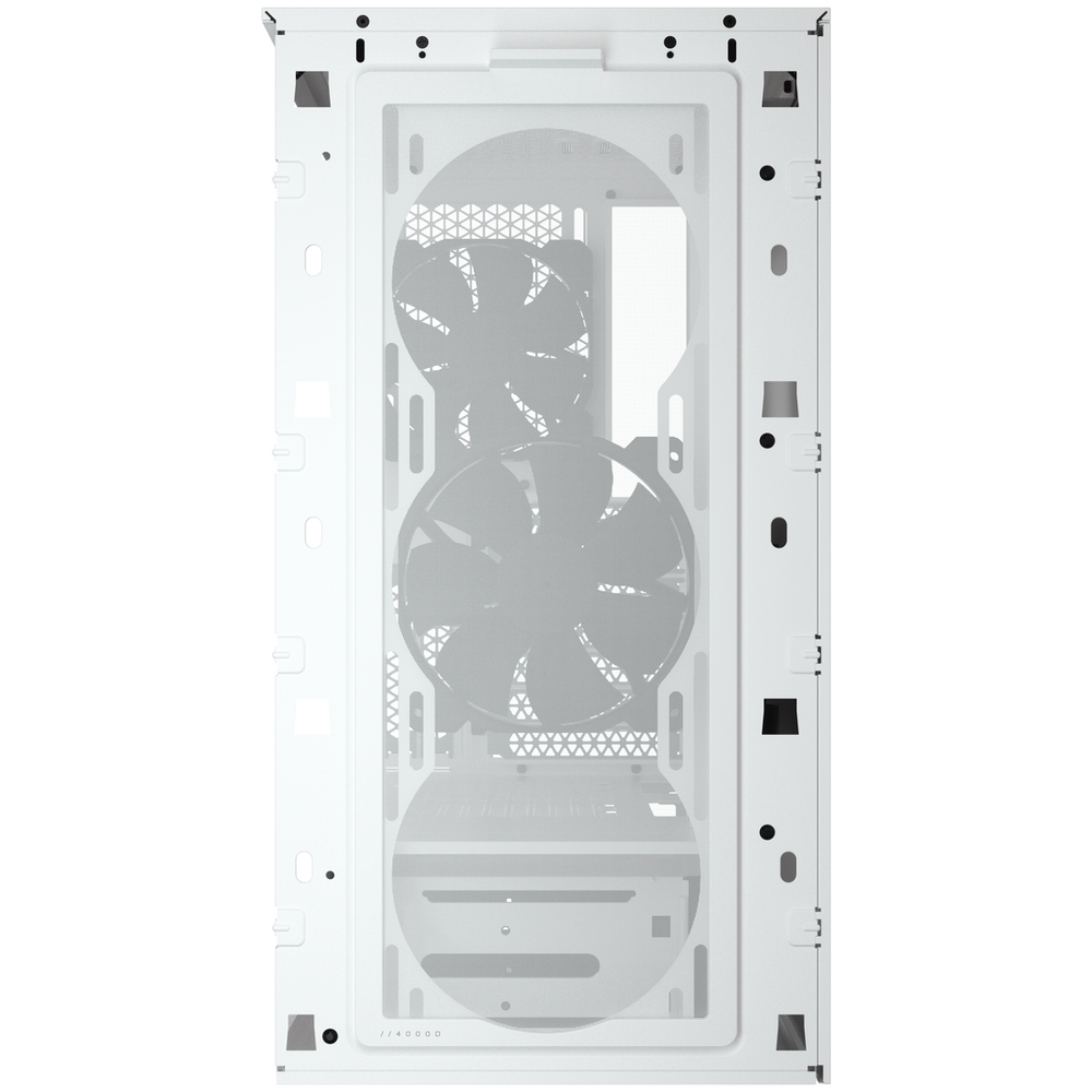 A large main feature product image of Corsair 4000D Airflow White Case w/ Tempered Glass Side Panel