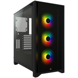 Product image of Corsair iCue 4000X RGB Black Case w/ Tempered Glass Side Panel - Click for product page of Corsair iCue 4000X RGB Black Case w/ Tempered Glass Side Panel