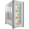 A product image of Corsair iCue 4000X RGB White Case w/ Tempered Glass Side Panel