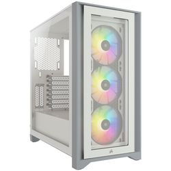 Product image of Corsair iCue 4000X RGB White Case w/ Tempered Glass Side Panel - Click for product page of Corsair iCue 4000X RGB White Case w/ Tempered Glass Side Panel