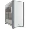 A product image of Corsair 4000D White Case w/ Tempered Glass Side Planel