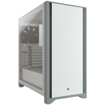 Product image of Corsair 4000D White Case w/ Tempered Glass Side Panel - Click for product page of Corsair 4000D White Case w/ Tempered Glass Side Panel