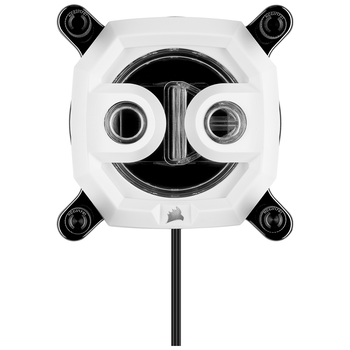 Product image of Corsair Hydro X Series XC7 RGB (1200/AM4) CPU Waterblock - White - Click for product page of Corsair Hydro X Series XC7 RGB (1200/AM4) CPU Waterblock - White