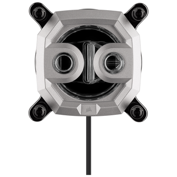 Product image of Corsair Hydro X Series XC9 RGB (2066/sTR4) CPU Waterblock - Silver - Click for product page of Corsair Hydro X Series XC9 RGB (2066/sTR4) CPU Waterblock - Silver