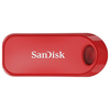 A product image of SanDisk Cruzer Snap 32GB USB2.0 Flash Drive Red