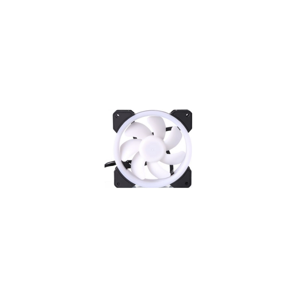 A large main feature product image of Bykski 120mm RGB PWM Black/White Cooling Fan
