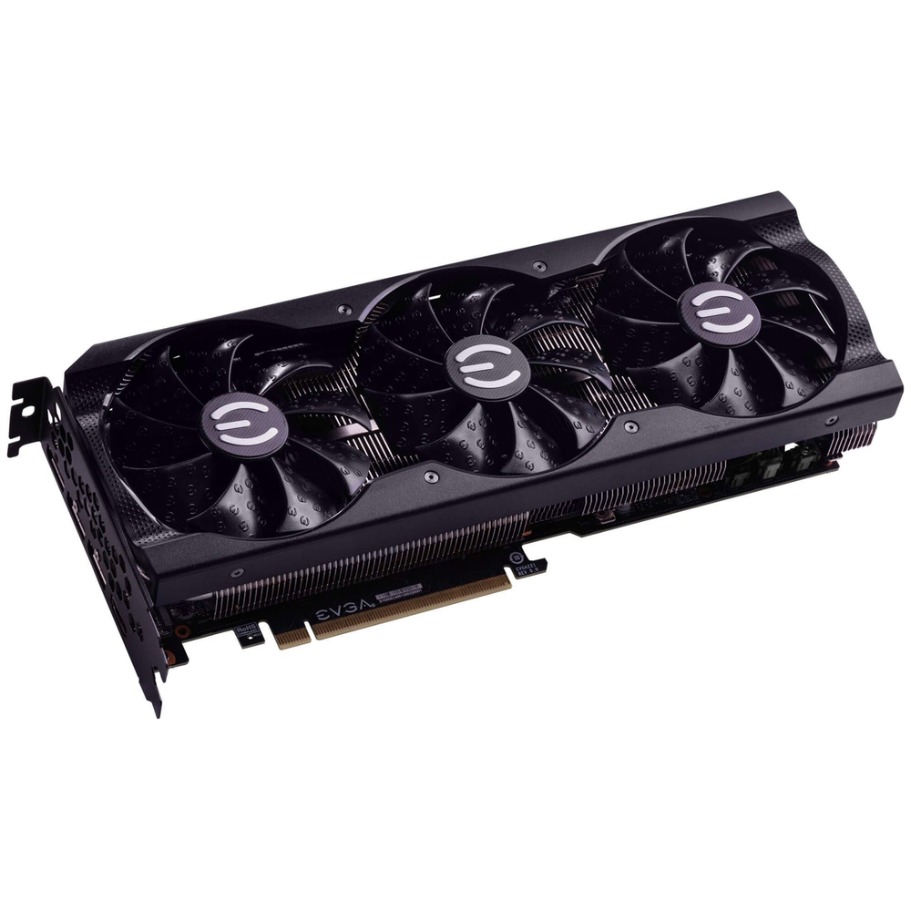 A large main feature product image of eVGA GeForce RTX 3080 XC3 Black 10GB GDDR6X