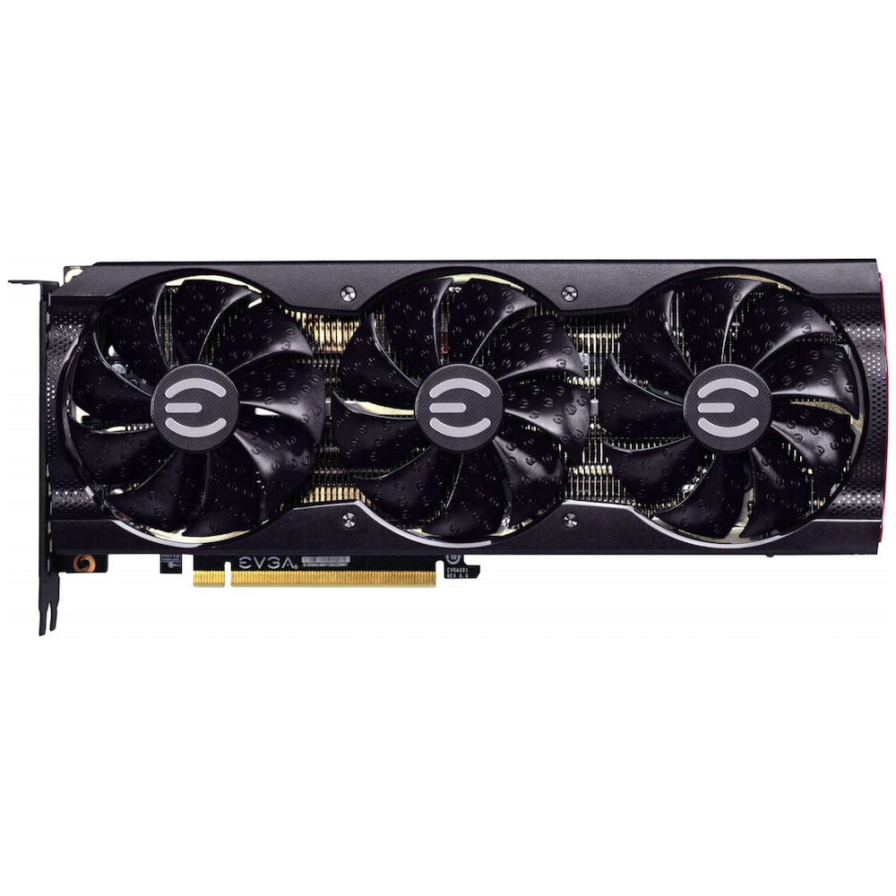 A large main feature product image of eVGA GeForce RTX 3080 XC3 10GB GDDR6X
