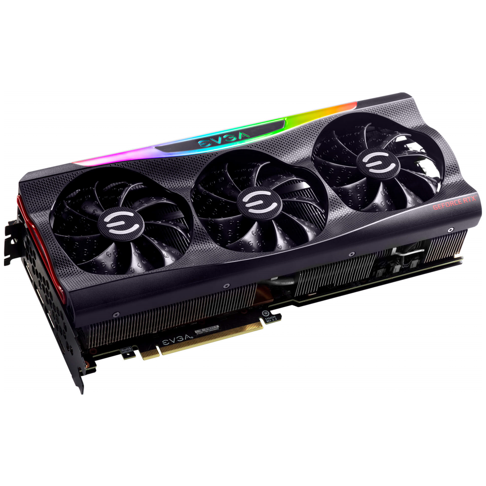 A large main feature product image of eVGA GeForce RTX 3080 FTW3 Ultra 10GB GDDR6X