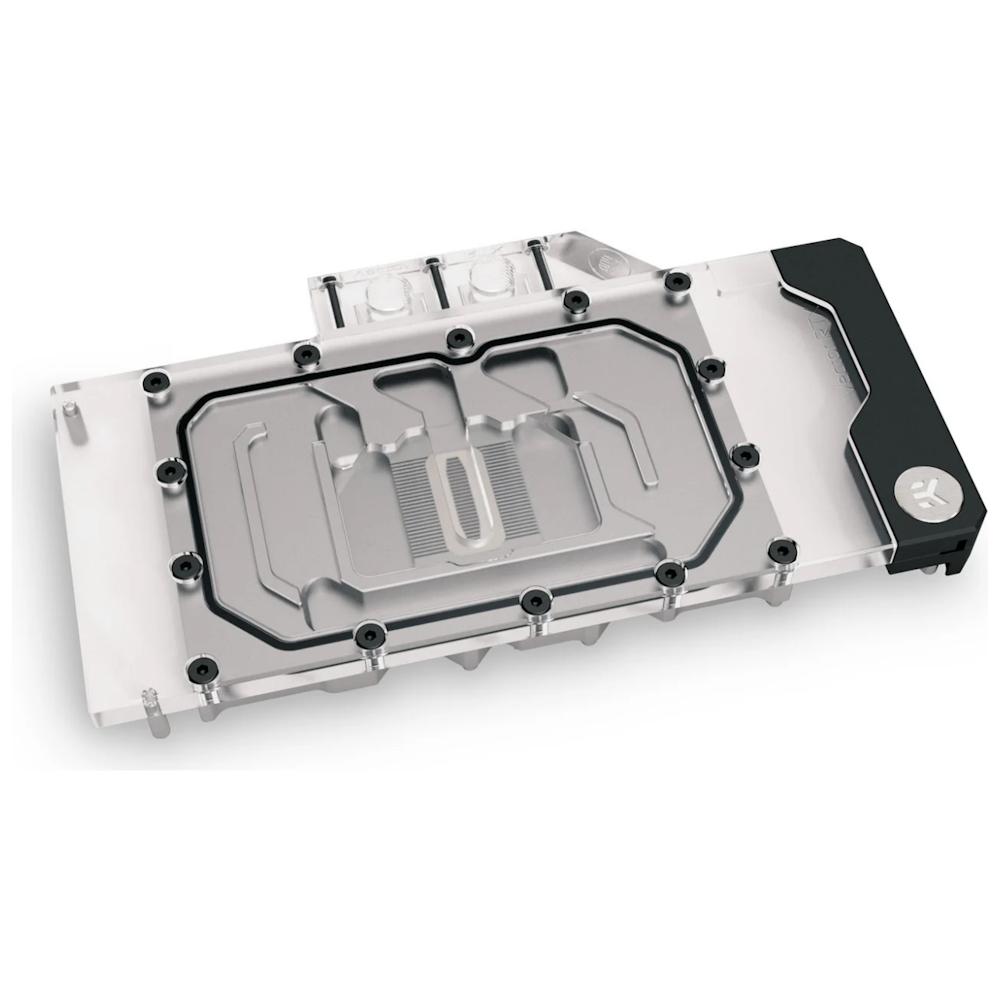 A large main feature product image of EK Quantum Vector RTX 3080/3090 D-RGB - Nickel + Plexi