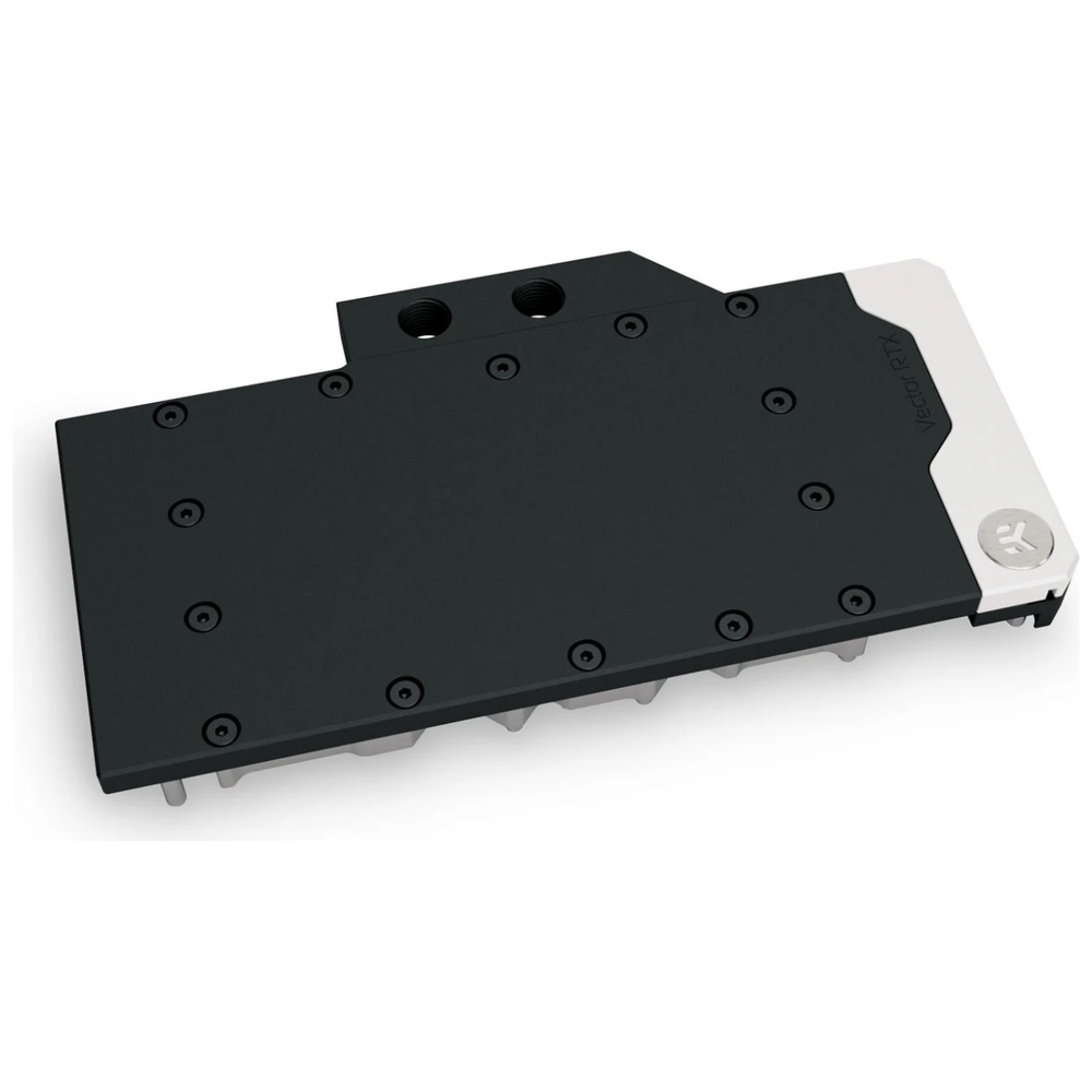A large main feature product image of EK Quantum Vector RTX 3080/3090 D-RGB - Nickel + Acetal