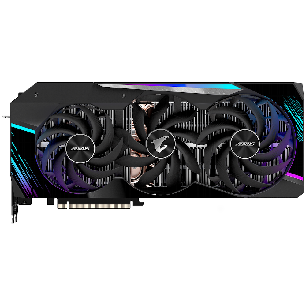 A large main feature product image of Gigabyte GeForce RTX 3090 Aorus Master 24GB GDDR6X